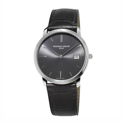 Frédérique Constant Slimline Steel & Leather 37mm Gents Watch