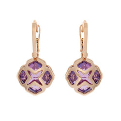 Chopard Imperiale Collection 18ct Rose-Gold and Amethyst Droplet Cocktail Earrings