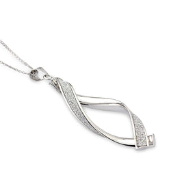 Mark Milton 9ct White Gold Glitter Twisted Pendant