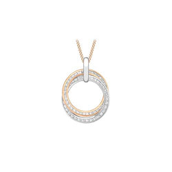 Hoxton Two-Tone 9 ct Gold & Zirconia Rings Pendant