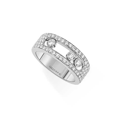 Messika Move Joaillerie 1.01ct Diamond 18ct White Gold Pave Ring