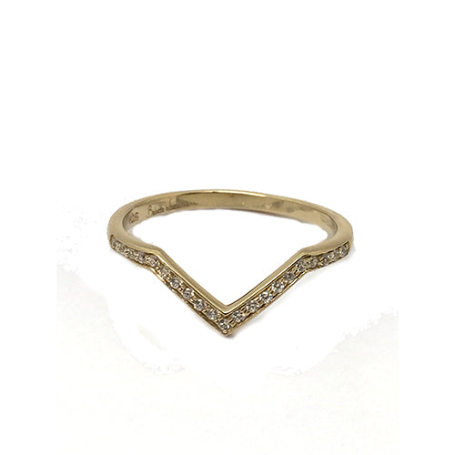 Babette Wasserman Yellow Gold V Style Ring