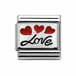 Nomination Composable Classic Hearts and Love Charm