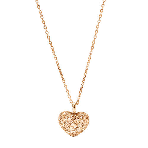 Fossil Ladies Glitz Heart Pendant