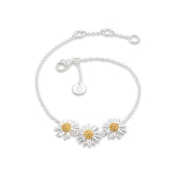 Daisy 10mm Three Daisy Chain Bracelet