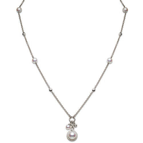 Mikimoto Ladies White Gold And Pearl Petit Soleil Pendant