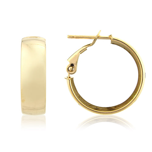 Mark Milton Yellow Gold Hoop Earrings