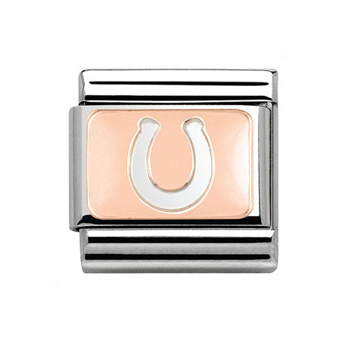 Nomination 9ct Rose Gold Composable Classic Lucky Horse Shoe Charm