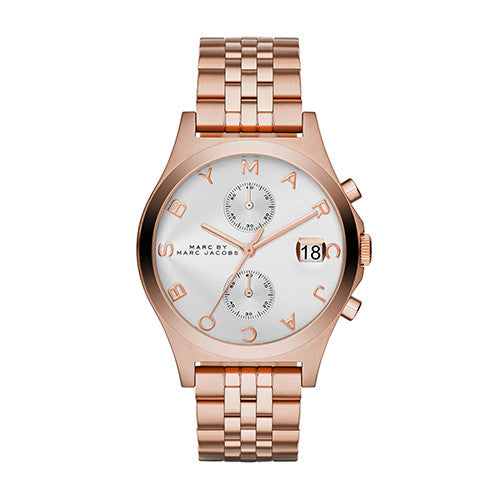 Marc By Marc Jacobs Ladies Rose Gold Tone Slim Chrono Watch