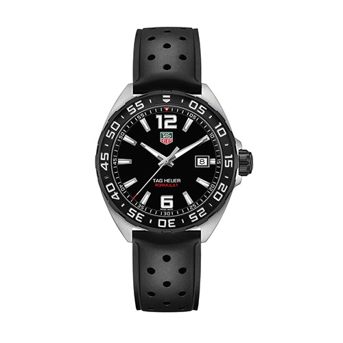 Tag Heuer Gents Formula 1 Black Dial and Rubber Strap Watch