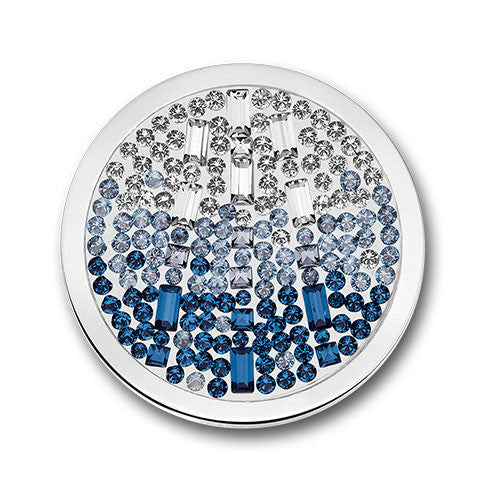 Mi Moneda Swarovski Cascada Pacific Blue Coin