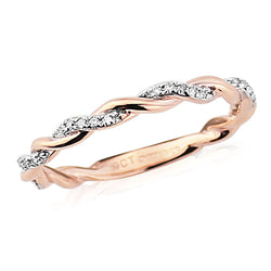 Mark Milton 9ct Rose Gold & Diamond Ring
