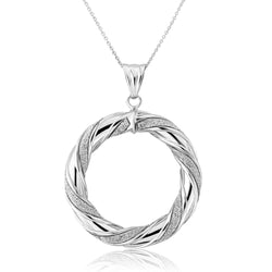 Mark Milton 9ct White Gold Glitter Polo Pendant