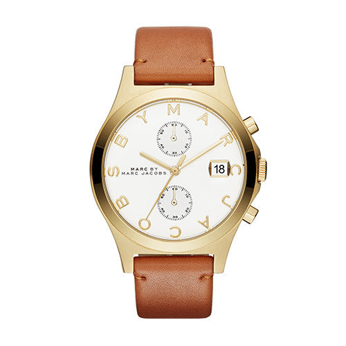 Marc By Marc Jacobs Ladies Leather Slim Chronograph Watch