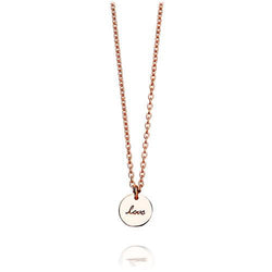 Astley Clarke Tiny Love Disc Rose Gold Pendant