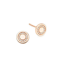 Astley Clarke Rose Gold & Diamond Mini Cosmos Stud Earrings