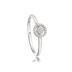 Astley Clarke White Gold & Diamond Mini Icon Aura Ring