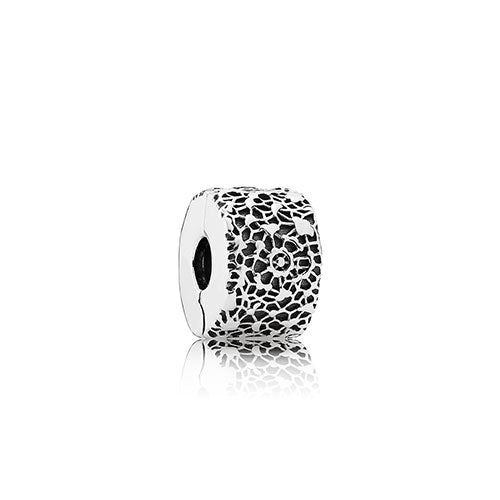 PANDORA Silver Layers of Lace Clip