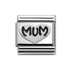 Nomination Mum Heart Composable Sterling Silver Charm