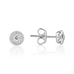 Mark Milton 18ct White Gold & Diamond Earrings