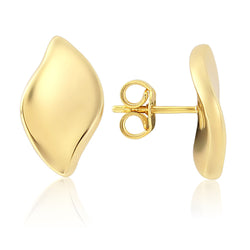 Mark Milton 18ct Yellow Gold Electroform Hoop Earrings