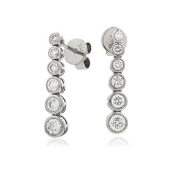 Diamond & 18ct White-Gold 0.80ct Drop Earrings