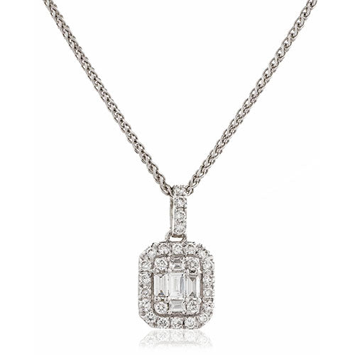 Diamond & 18ct White Gold 0.33ct Classic Pendant