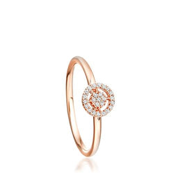 Astley Clarke 14ct Rose Gold Mini Diamond Icon Aura Ring