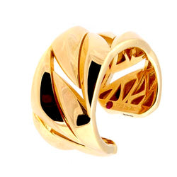 Roberto Coin Gold-Plated Sterling Silver, Torque Open Ring
