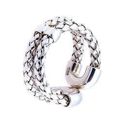 Roberto Coin Sterling Silver Weaved Loop Ring