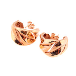 Roberto Coin Rose-Gold Sterling Silver Half Hoop Earrings