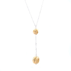 Roberto Coin 925 Sterling Silver and Gold Plated Bead Drop Necklace