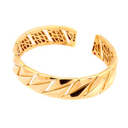 Roberto Coin 14 mm Twist, Gold Plated Open Bangle