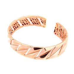 Roberto Coin 14 mm Twist, Rose-Gold Plated Open Bangle