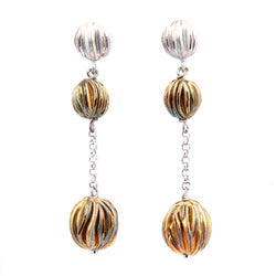 Roberto Coin Sterling Silver and Gold-Plated Bead Drop Earrings