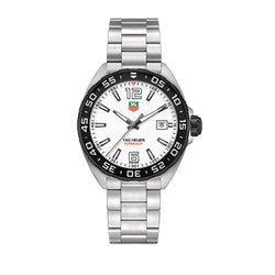 TAG Heuer Formula 1 Steel Black Bzel White Dial 41 mm Men's Watch