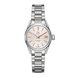 TAG Heuer Carrera Steel & Rose 28mm Automatic Women's Watch