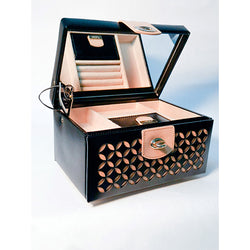 WOLF Chloé Black Leather Jewellery Box
