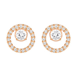 Swarovski Creativity Circle Rose Gold Plated Earrings