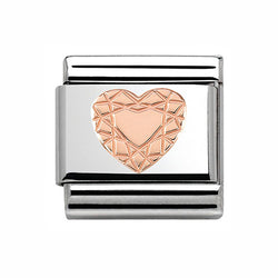 Nomination Composable Classic Rose Heart Diamond Charm