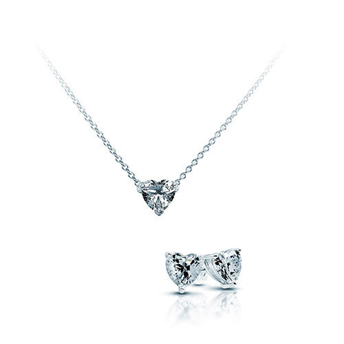 Diamonfire Valentines Offer - Silver Heart Gift Set RRP £125