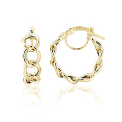 Mark Milton 9ct Yellow Gold Curb Link Hoop Earrings