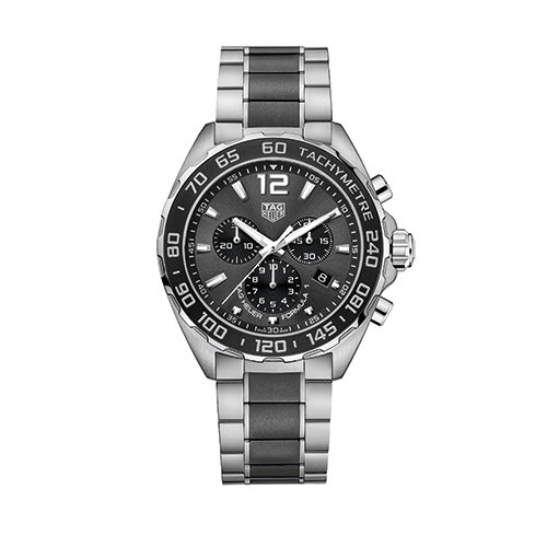 Tag Heuer Gents Formula 1 Steel and Ceramic Chronograph Watch