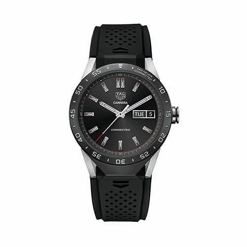 Tag Heuer Connected Black Rubber Strap Watch