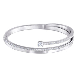 Swarovski Fresh Rhodium-plated Bangle Medium
