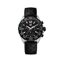 TAG Heuer Formula 1 Chronograph 43 mm Black Rubber Men's Watch