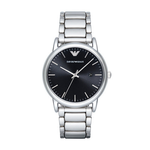 Emporio Armani Mens Stainless Steel Silver Watch