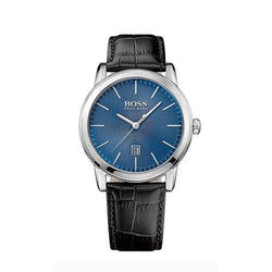 Hugo Boss Gents Classic Black Leather Blue Dial Watch