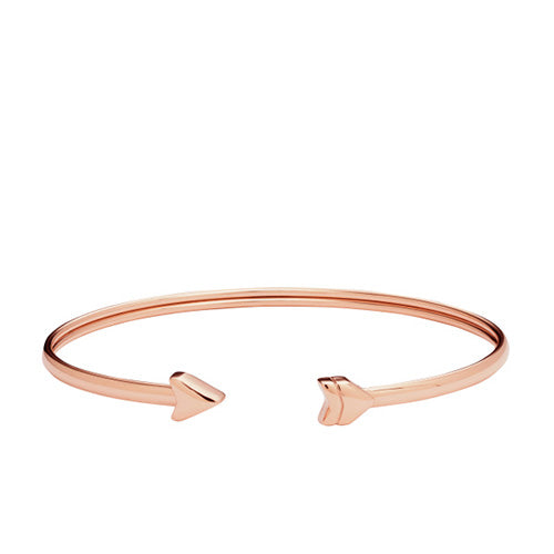 Fossil Vintage Motif Rose Gold Arrow Bangle