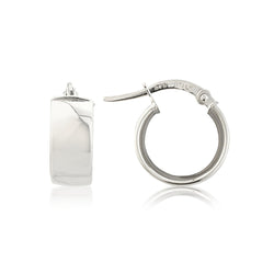Mark Milton 9ct White Gold Flat Hoop Earrings